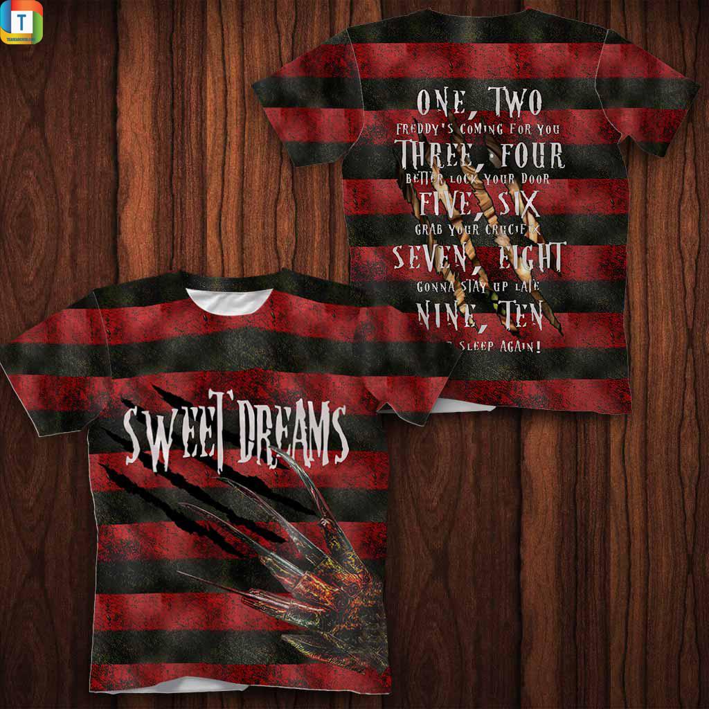 Freddy krueger Sweet Dreams horror movies 3d all over printed hoodie 1