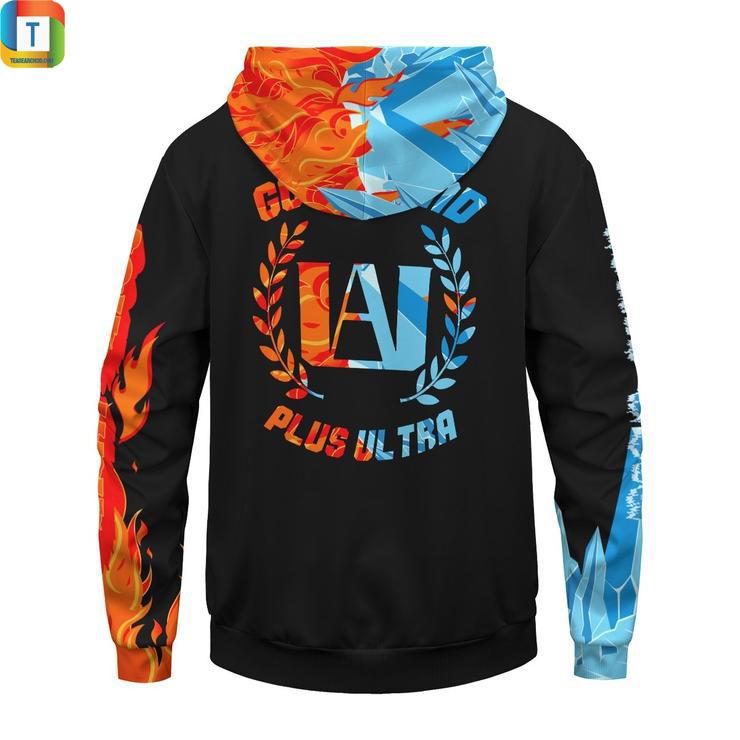Go beyond plus ultra UA Shoto fire ice unisex pullover hoodie 3