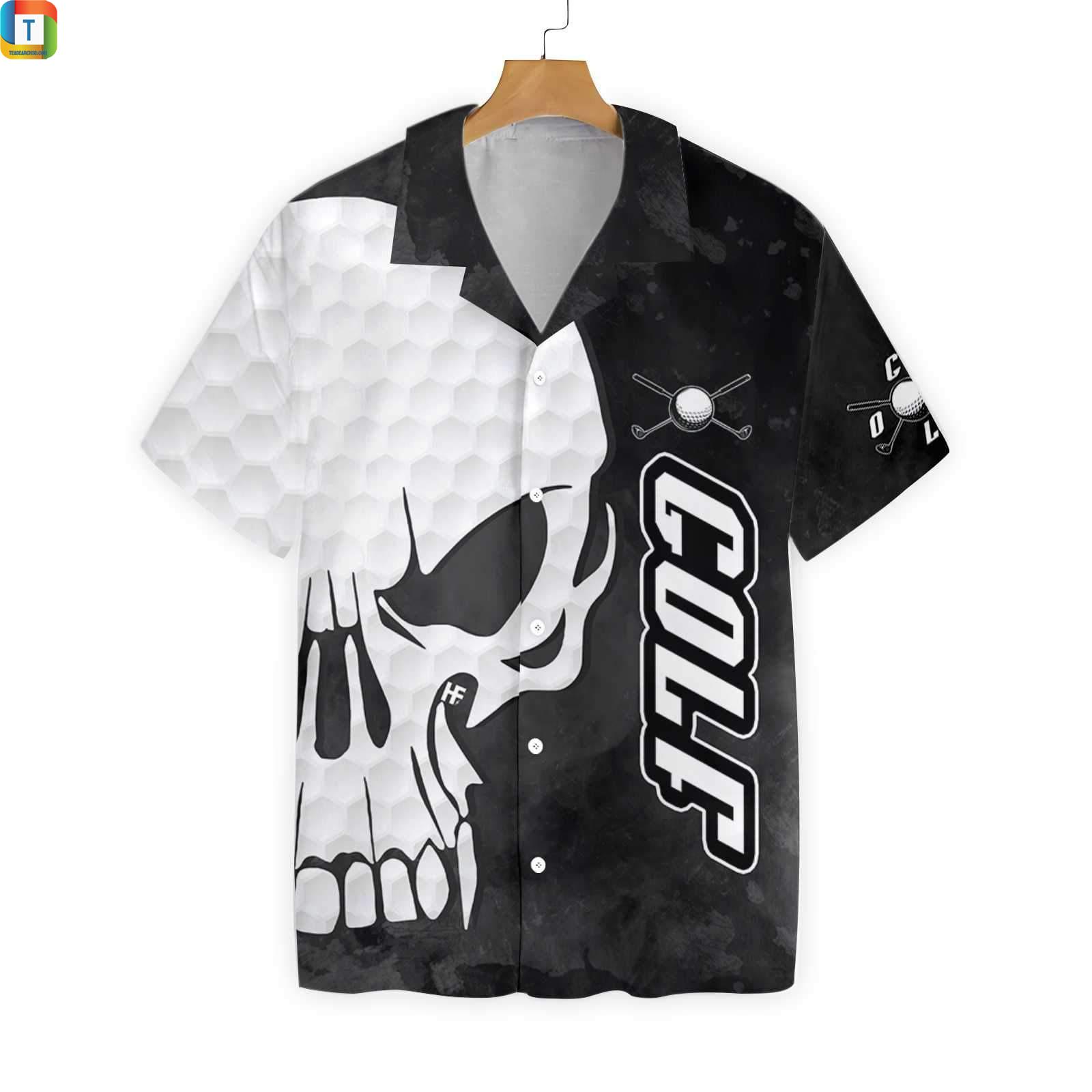 Golf and skull hawaiian shirt 1