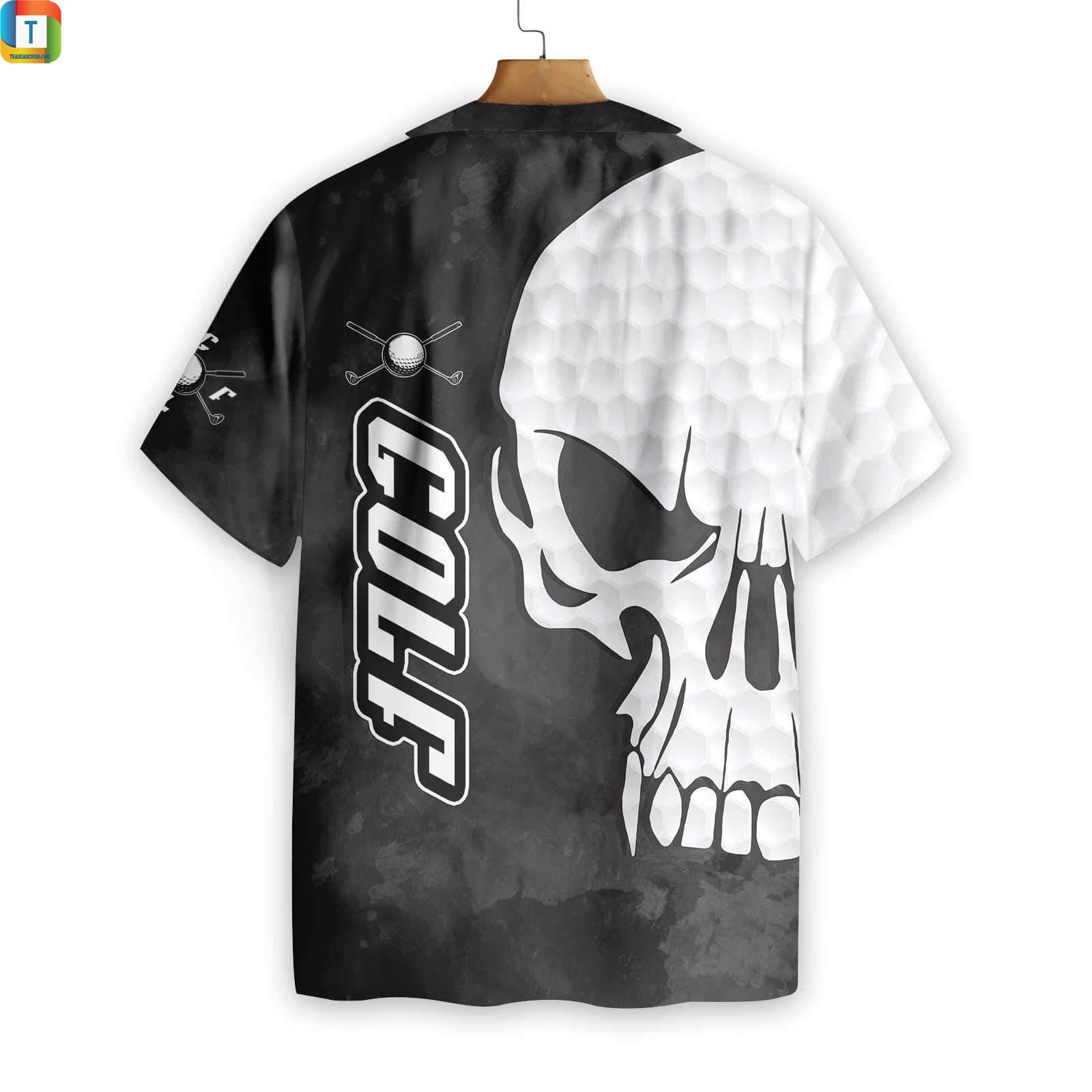 Golf and skull hawaiian shirt 2