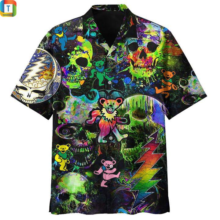 Grateful dead black hawaiian shirt 1