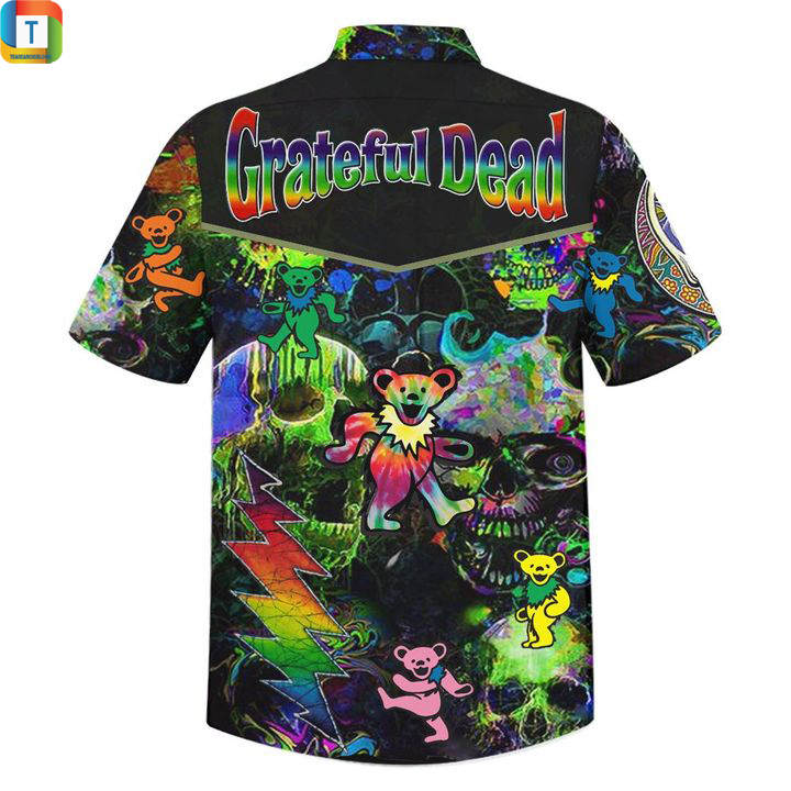 Grateful dead black hawaiian shirt 2