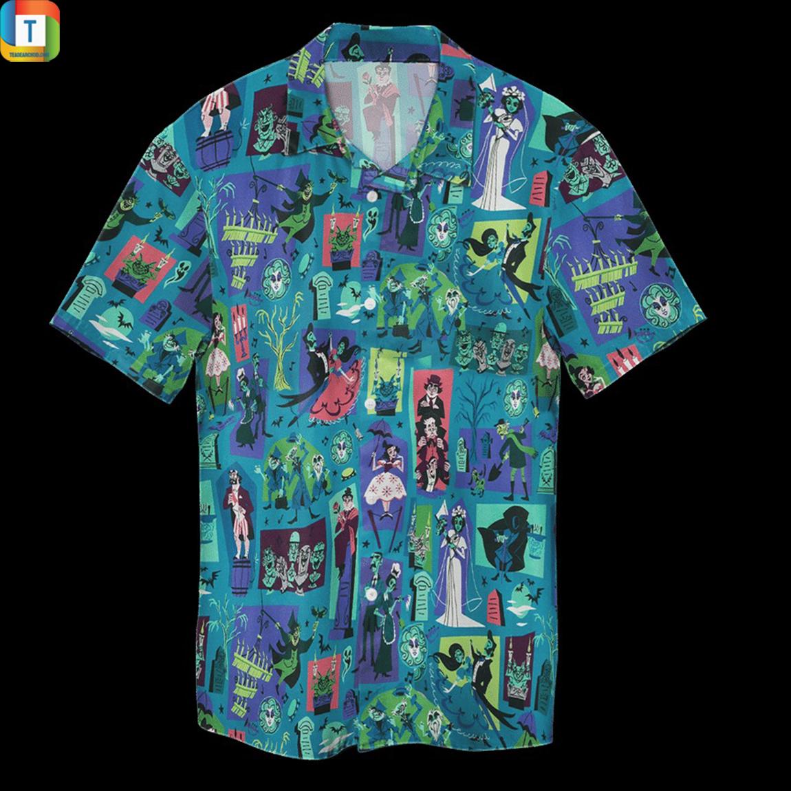 Haunted mansion hawaiian shirt 1