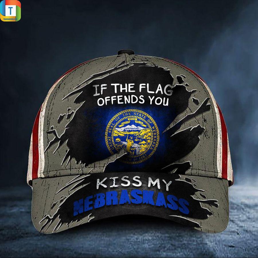 If The Flag Offends You Kiss My Nebraskass Classic Cap Hat
