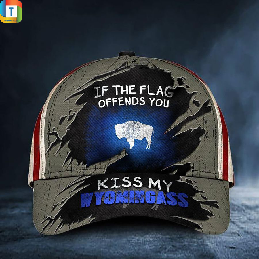 If The Flag Offends You Kiss My Wyomingass Classic Cap Hat