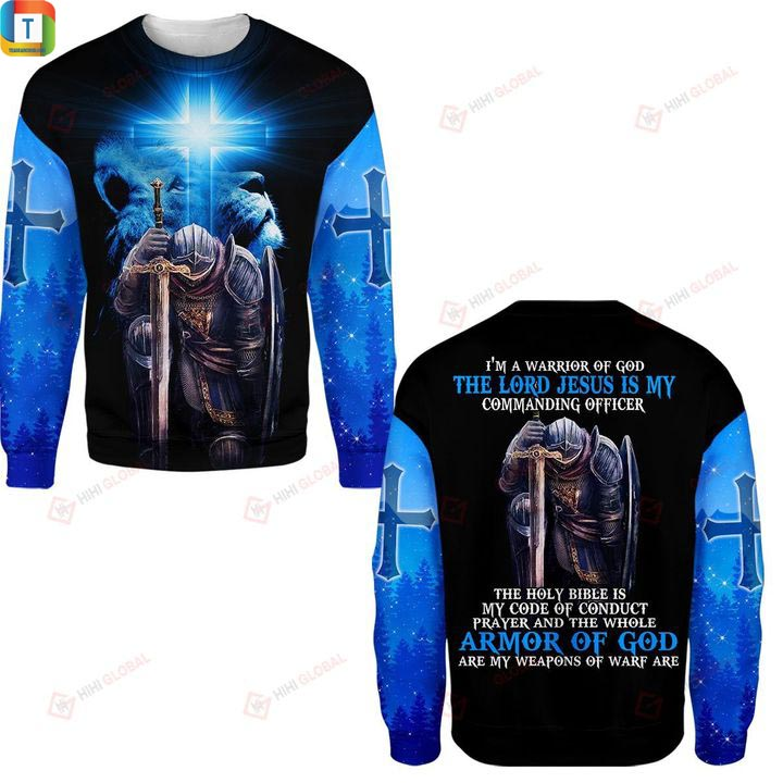 I'm a warrior of god hawaiian shirt and 3d hoodie 3