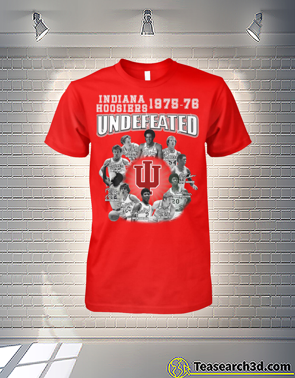Indiana hoosiers 1975-76 undefeated players signature shirt