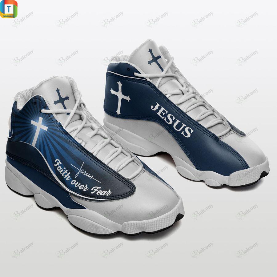 Jesus faith over fear air fordan 13 sneakers 1