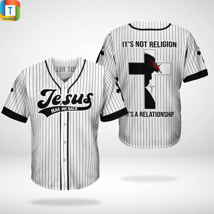 Jesus has my back baseball jersey