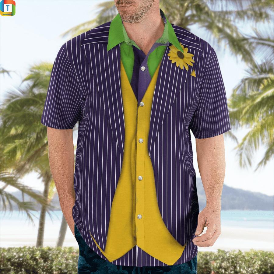 Joker cosplay hawaiian shirt 1