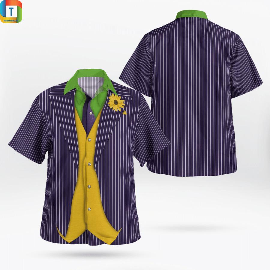 Joker cosplay hawaiian shirt