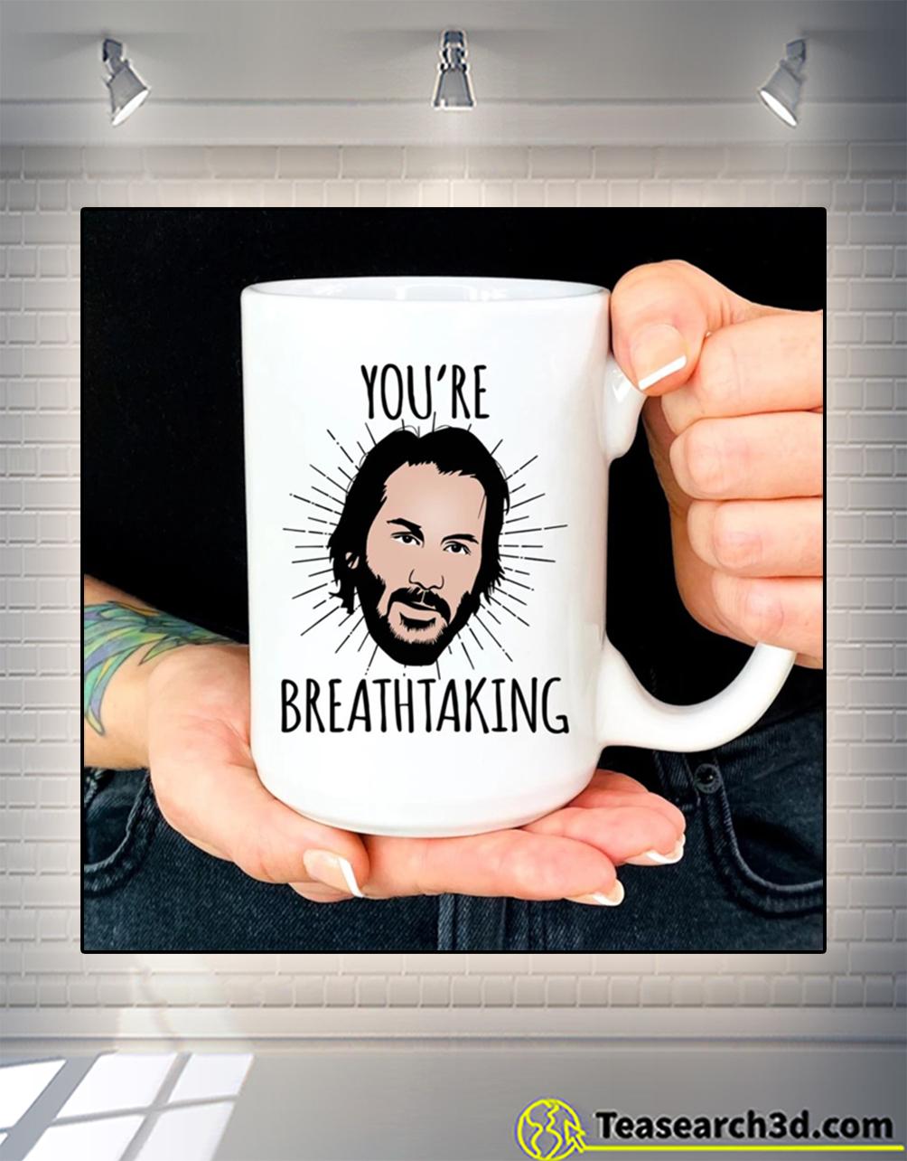 Keanu reeves you're breathtaking mug