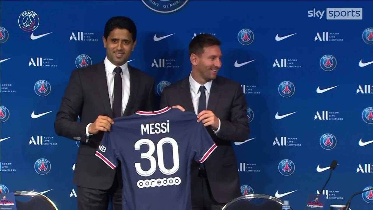 Lionel Messi PSG's Number 30 Shirt Home Kit 2021 2022