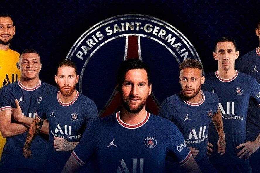 Lionel Messi Paris Saint-Germain Home Kit 2021 2022 1