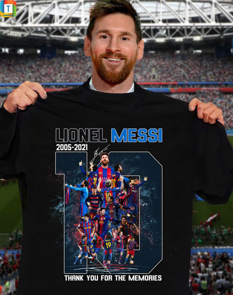 Lionel Messi Signature Thank You For The Memories Shirt