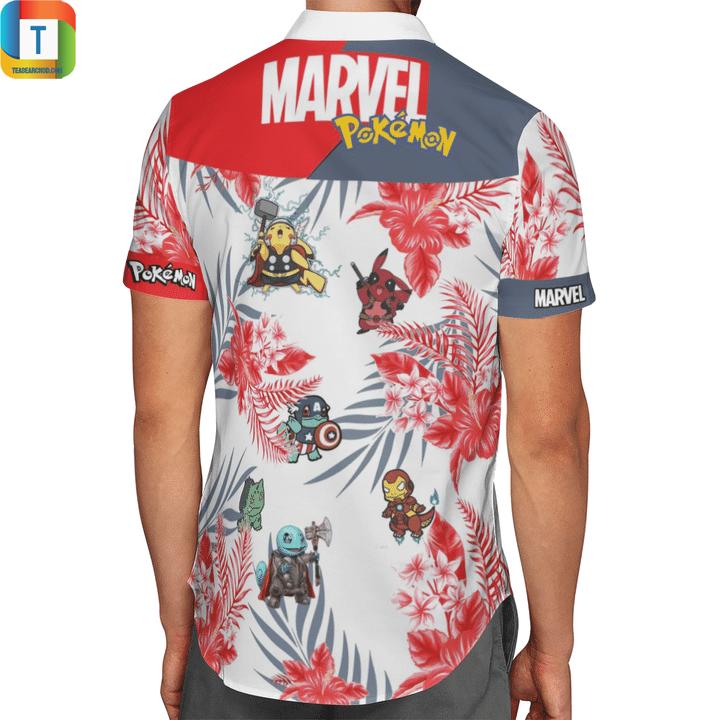 MARVEL pokemon hawaiian shirt 2