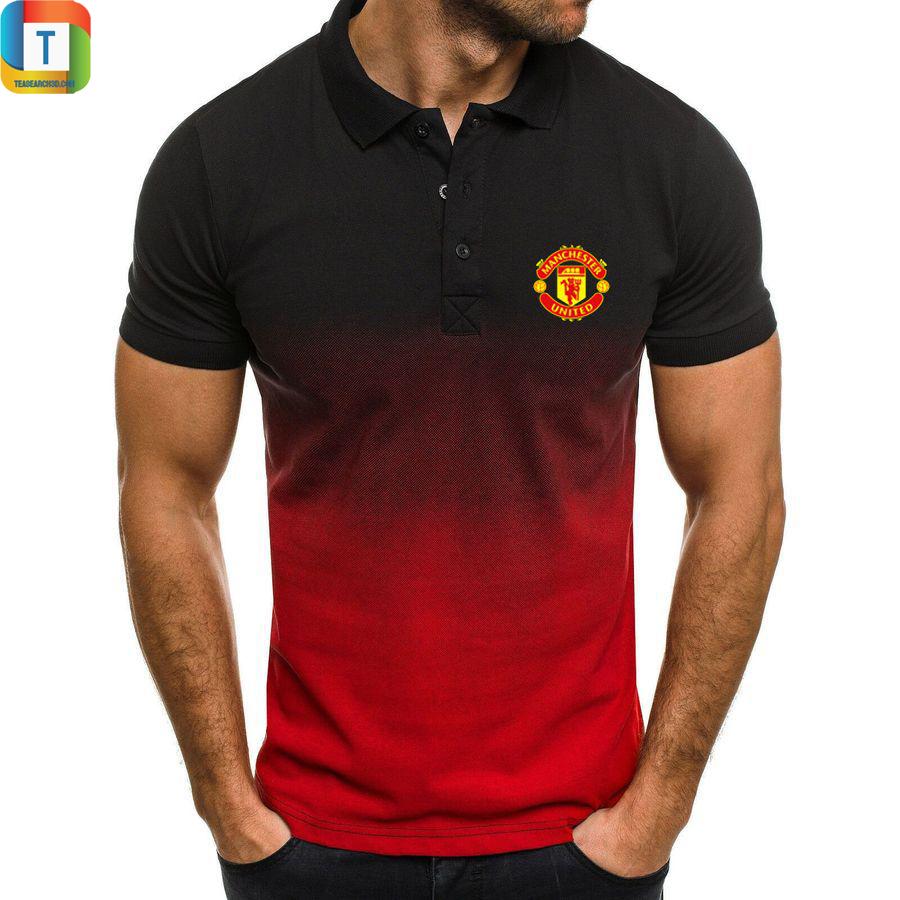Manchester united gradien polo shirt