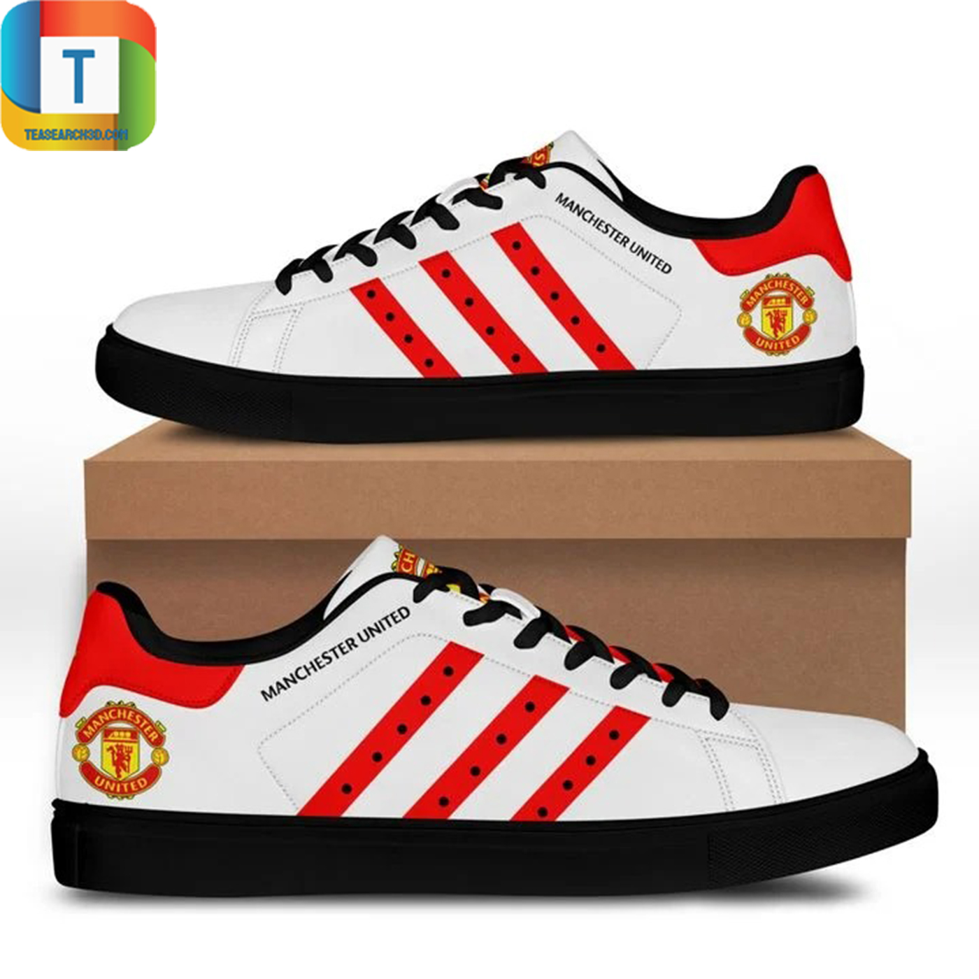 Manchester united stan smith low top shoes 3