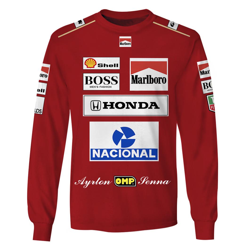 Marlboro Honda Nacional Racing 3D Full Printing long sleeve