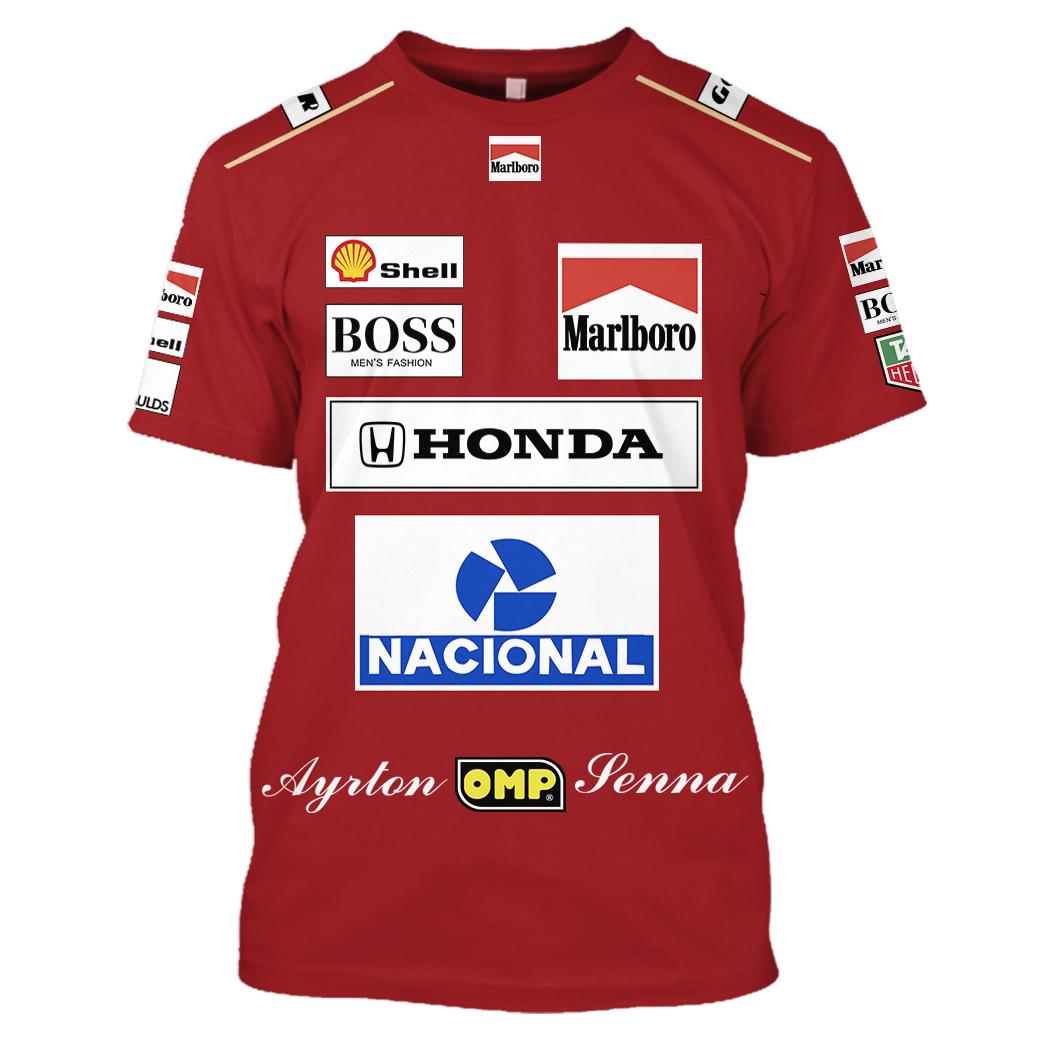 Marlboro Honda Nacional Racing 3D Full Printing shirt