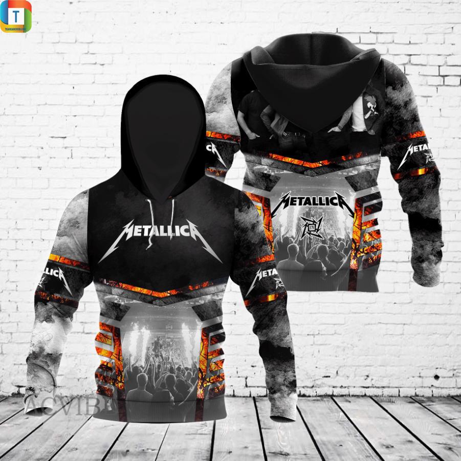 Metallica 3d all over printed hoodie