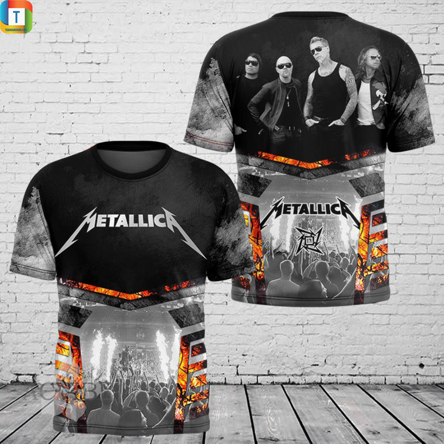 Metallica 3d all over printed shirt