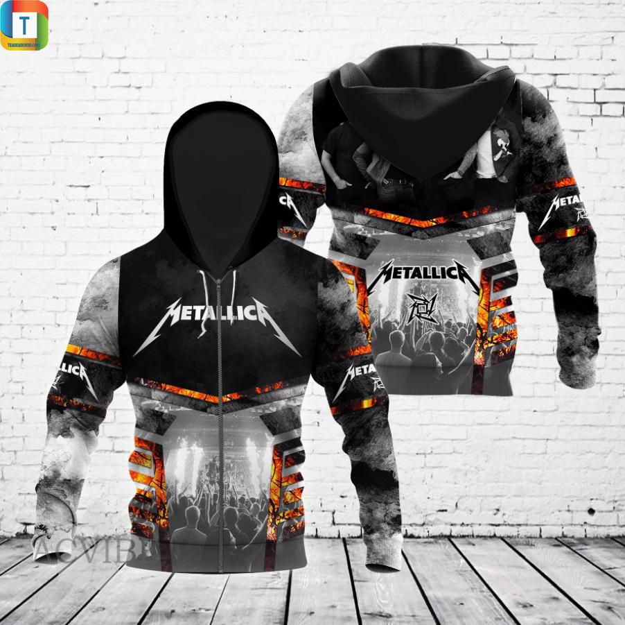 Metallica 3d all over printed zip hoodie