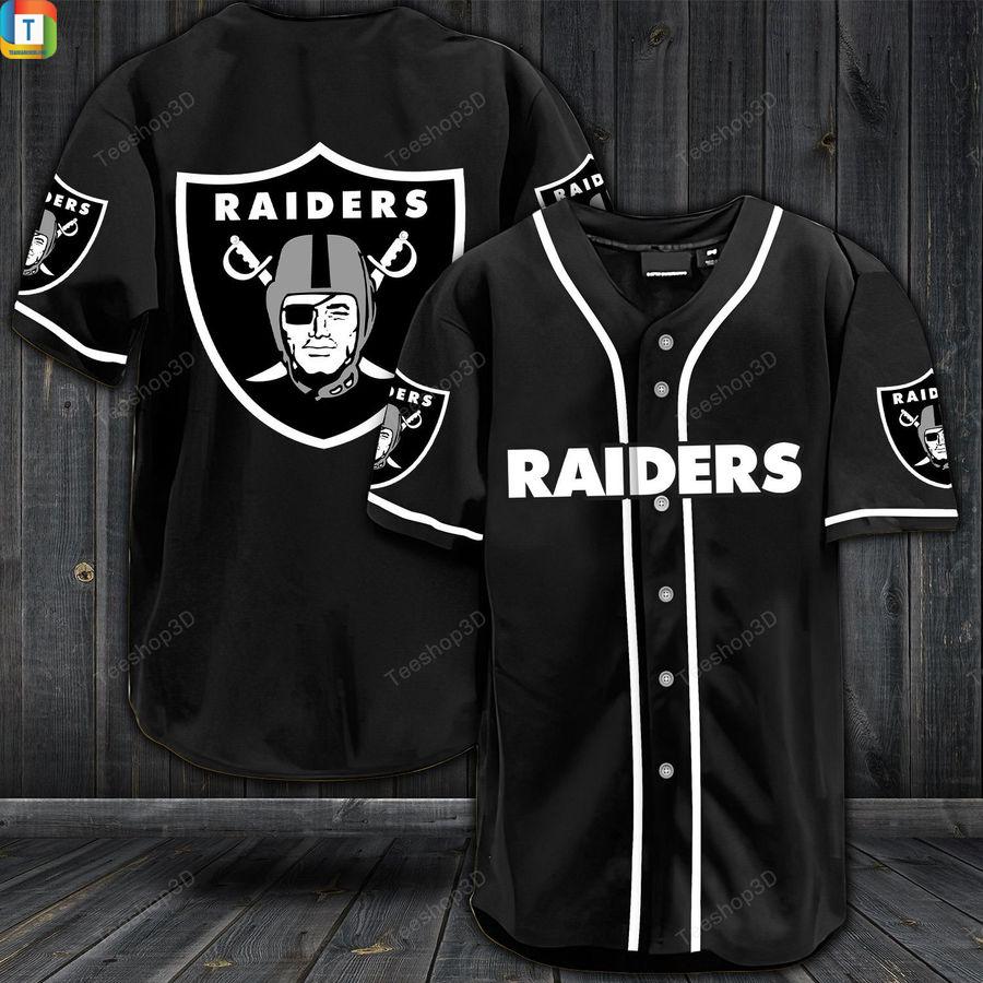 NFL Las Vegas Raiders baseball shirt