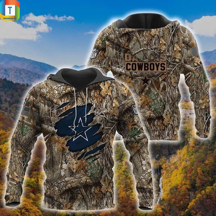 NFL dallas cowboy camo jungle 3d all over printed hoodie