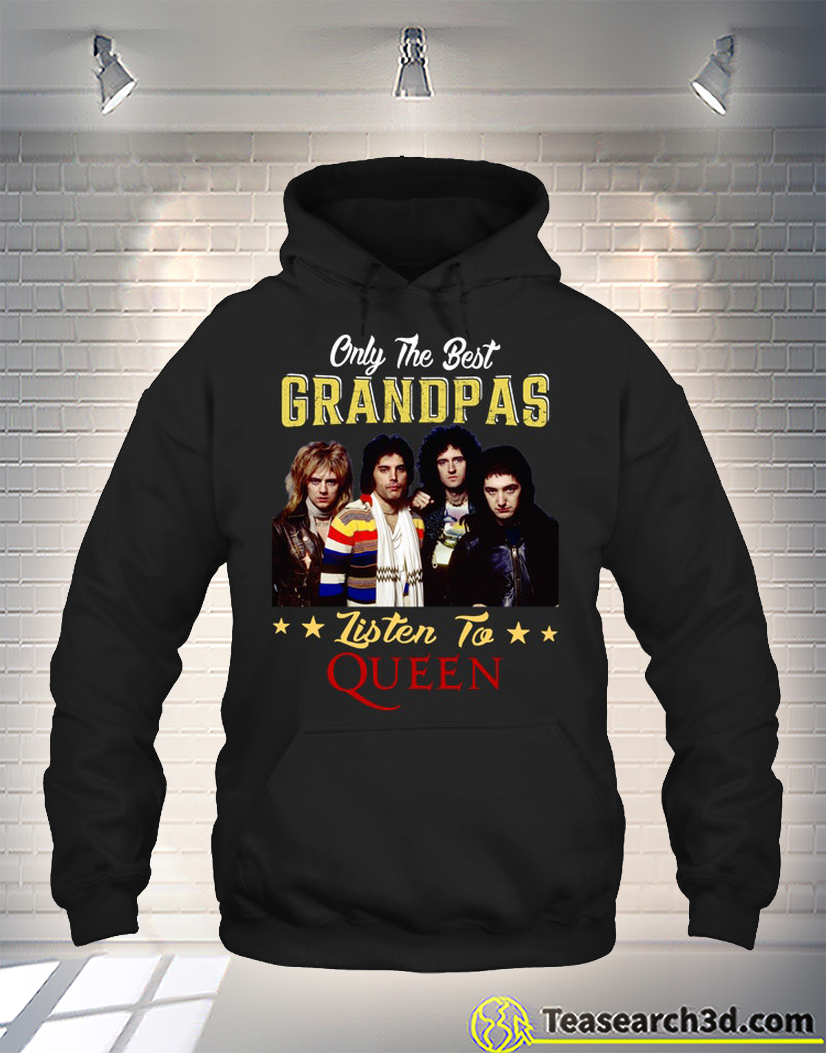 Only the best grandpas listen to the queen hoodie