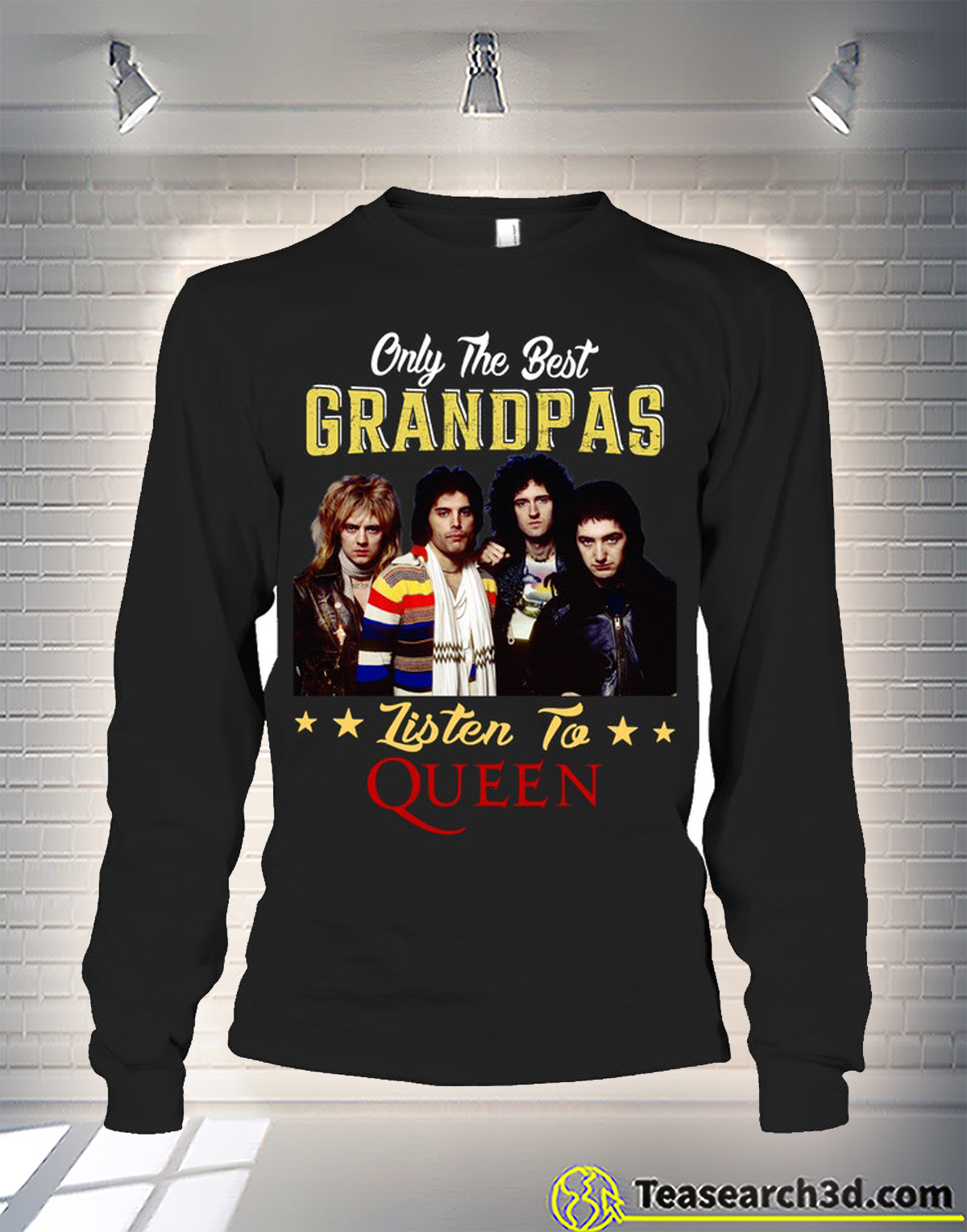 Only the best grandpas listen to the queen long sleeve