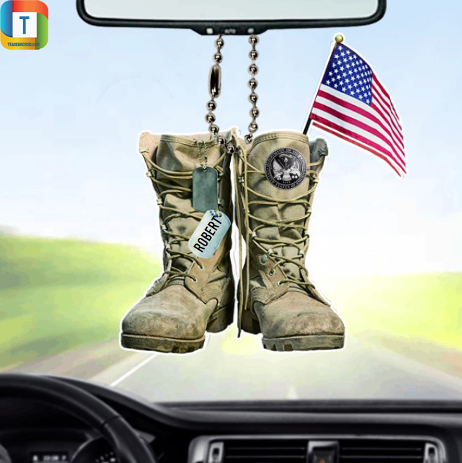 Personalized Department Of The Army Military Boots Car Ornament