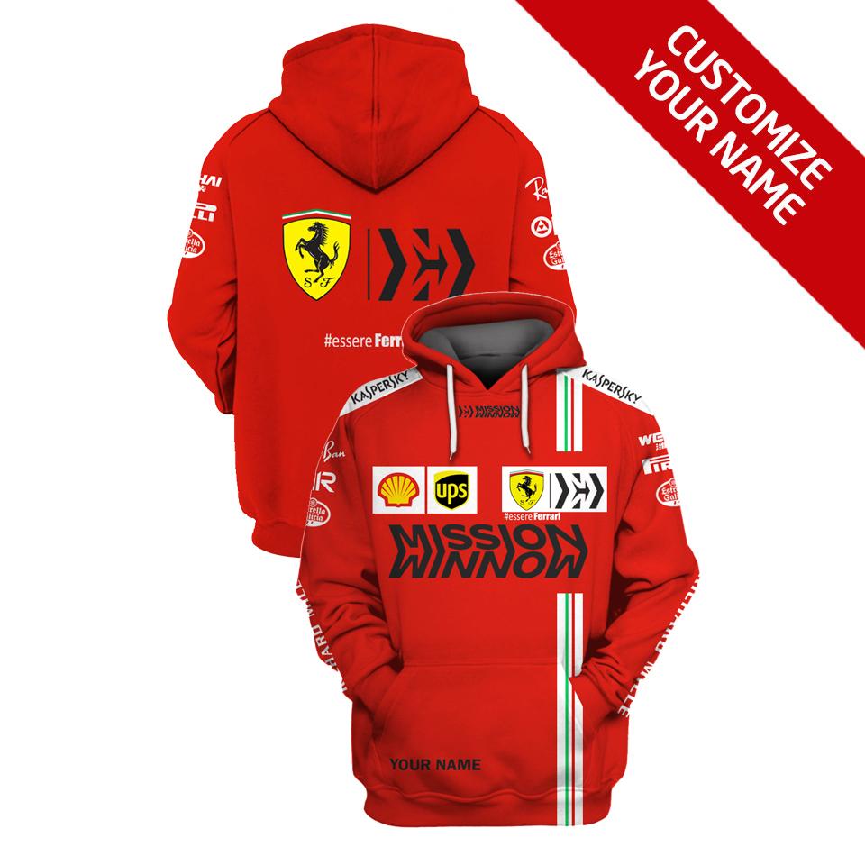 Personalized Essere Ferrari F1 Racing 3D Full Printing Hoodie
