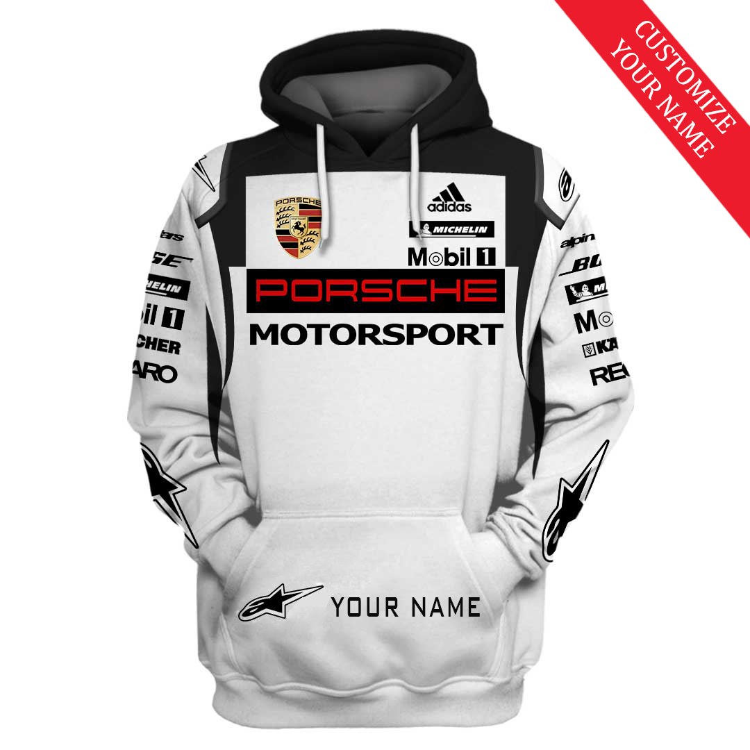 Personalized custom name Porsche motorsport racing 3D Full Printing Hoodie
