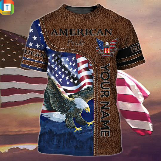 Personalized custom name american pride 3d all over printed shirt 2