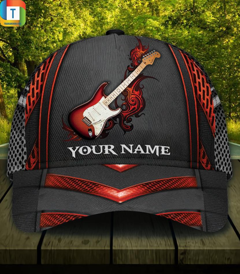 Personalized custom name guitar classic cap