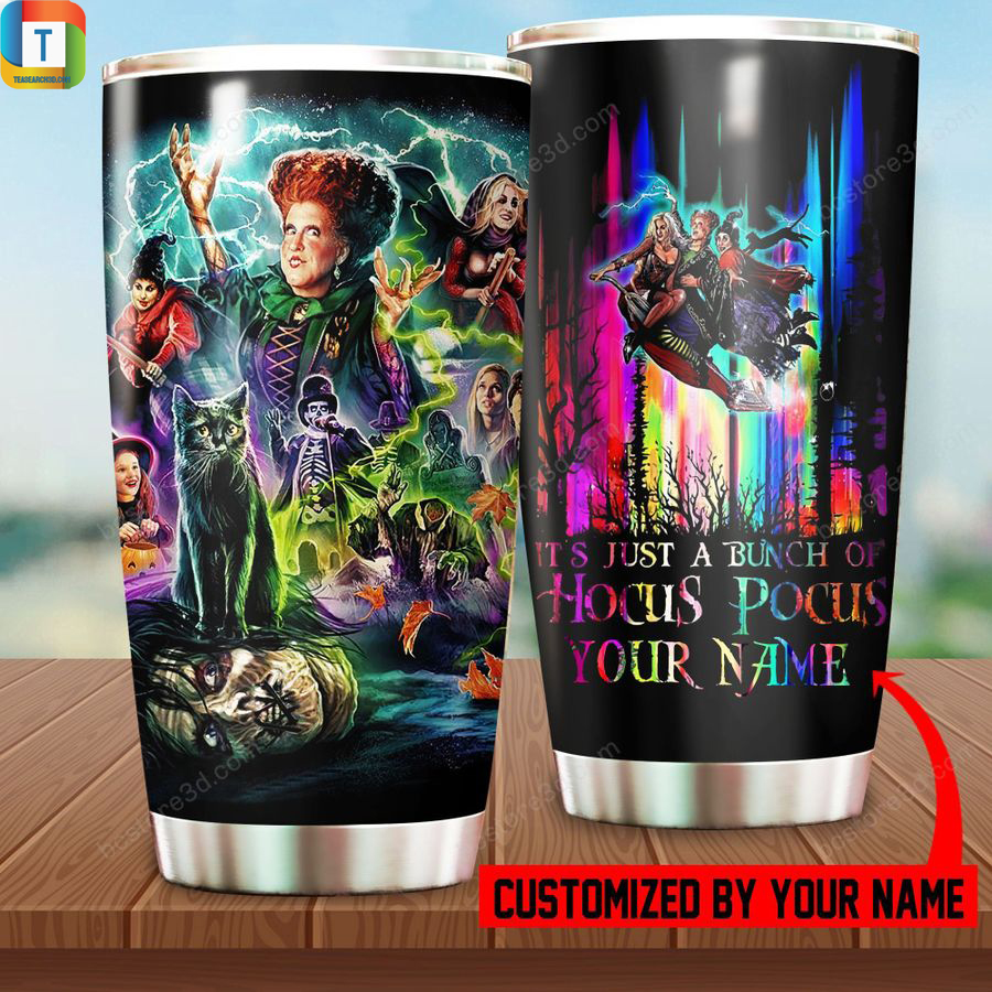 Personalized custom name it's just a bunch of Hocus Pocus tumbler