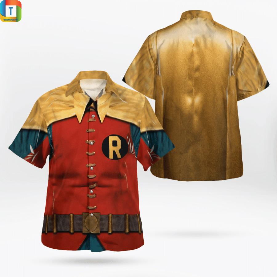 Robin uniform 1966 cosplay hawaiian shirt