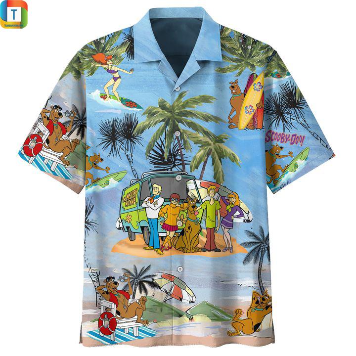 Scooby doo summer vacation hawaiian shirt 1