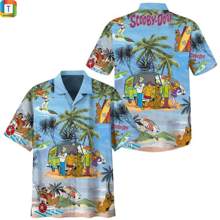 Scooby doo summer vacation hawaiian shirt