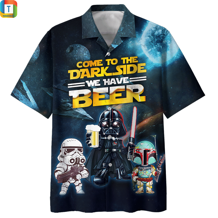 Star wars darth vader come to the dark side we have beer hawaiian shirt 1