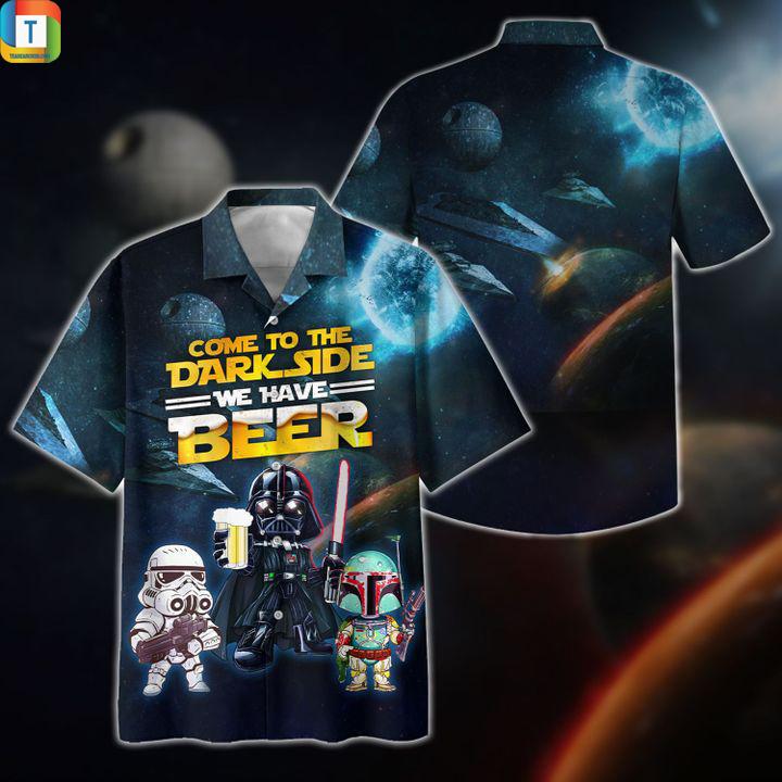 Star wars darth vader come to the dark side we have beer hawaiian shirt