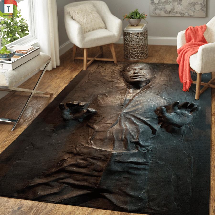 Star wars han solo carbonite area rug