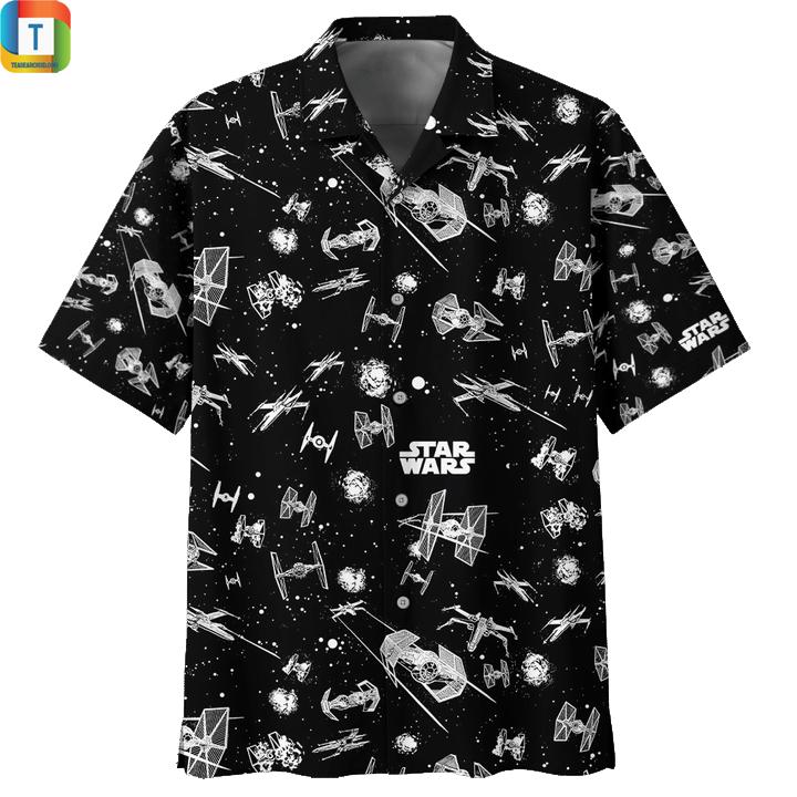 Star wars pattern hawaiian shirt 1