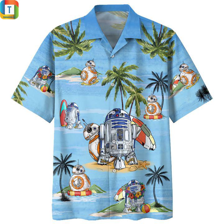 Star wars r2-d2 summer time hawaiians shirt