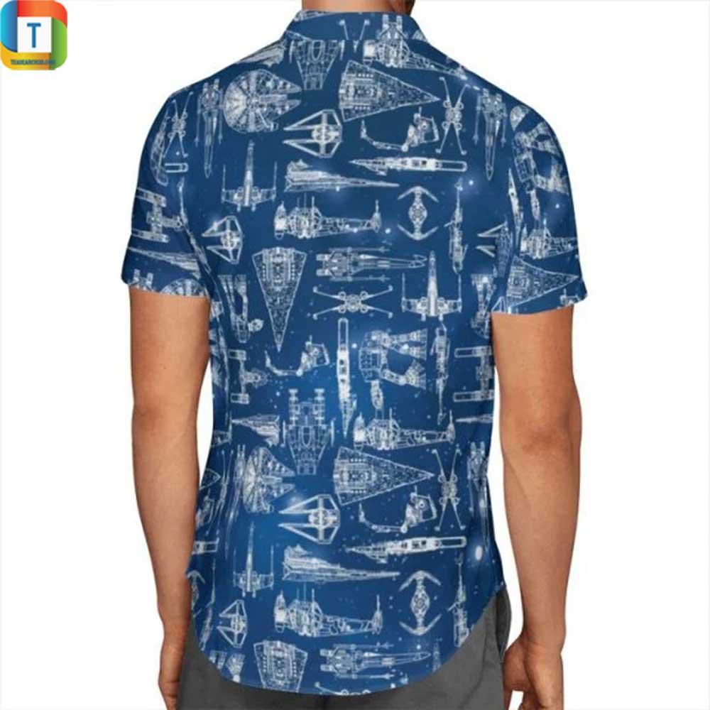 Star wars ship hawaiian shirt, beach shorts 1