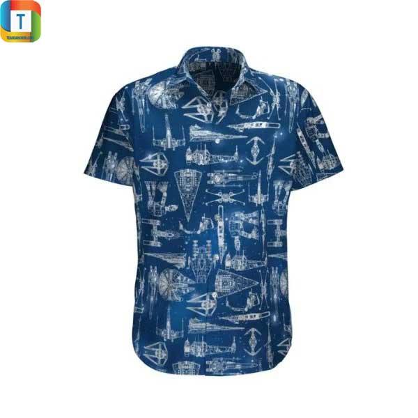 Star wars ship hawaiian shirt, beach shorts 2