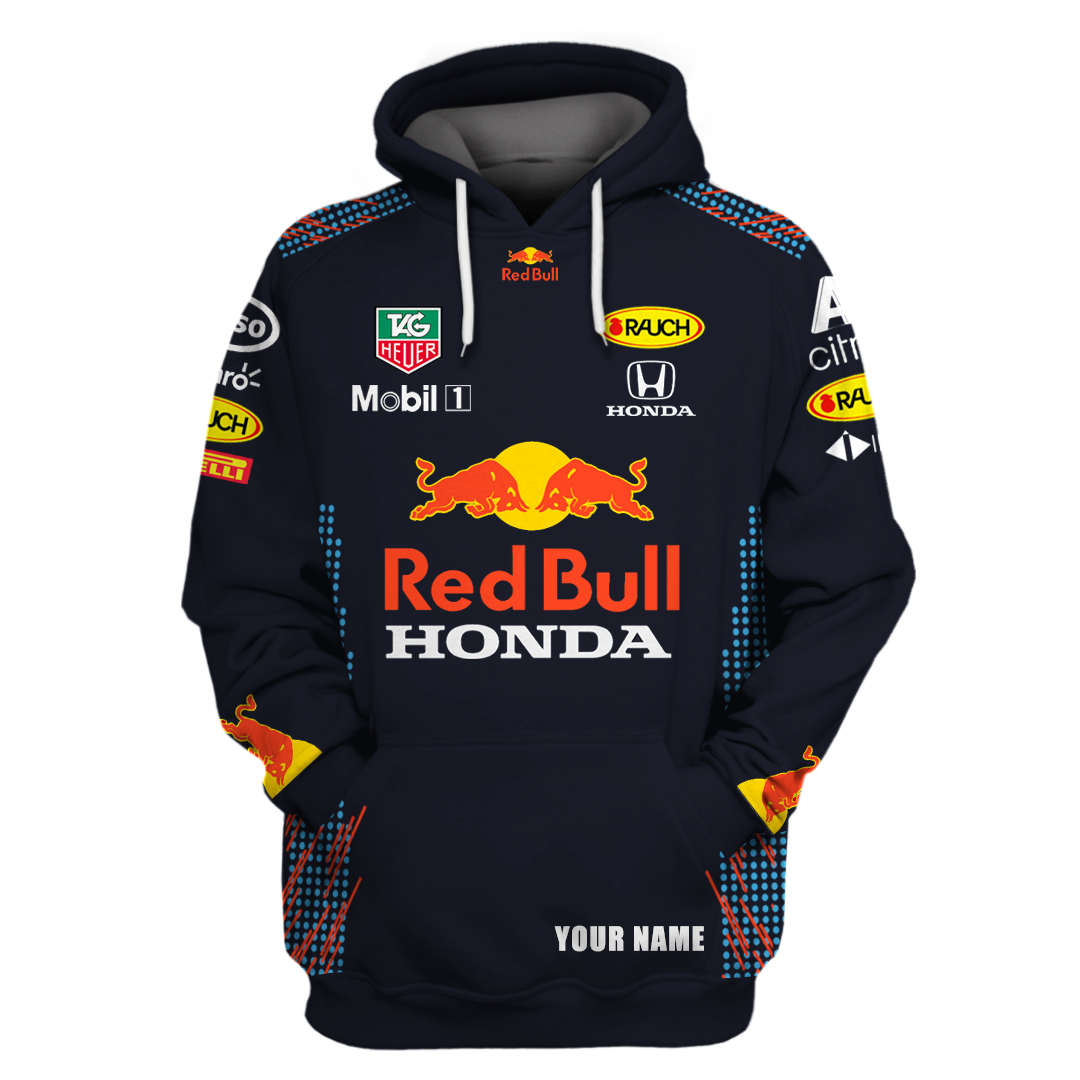Personalized custom name Red bull mobil 1 racing 3d all over printed hoodie