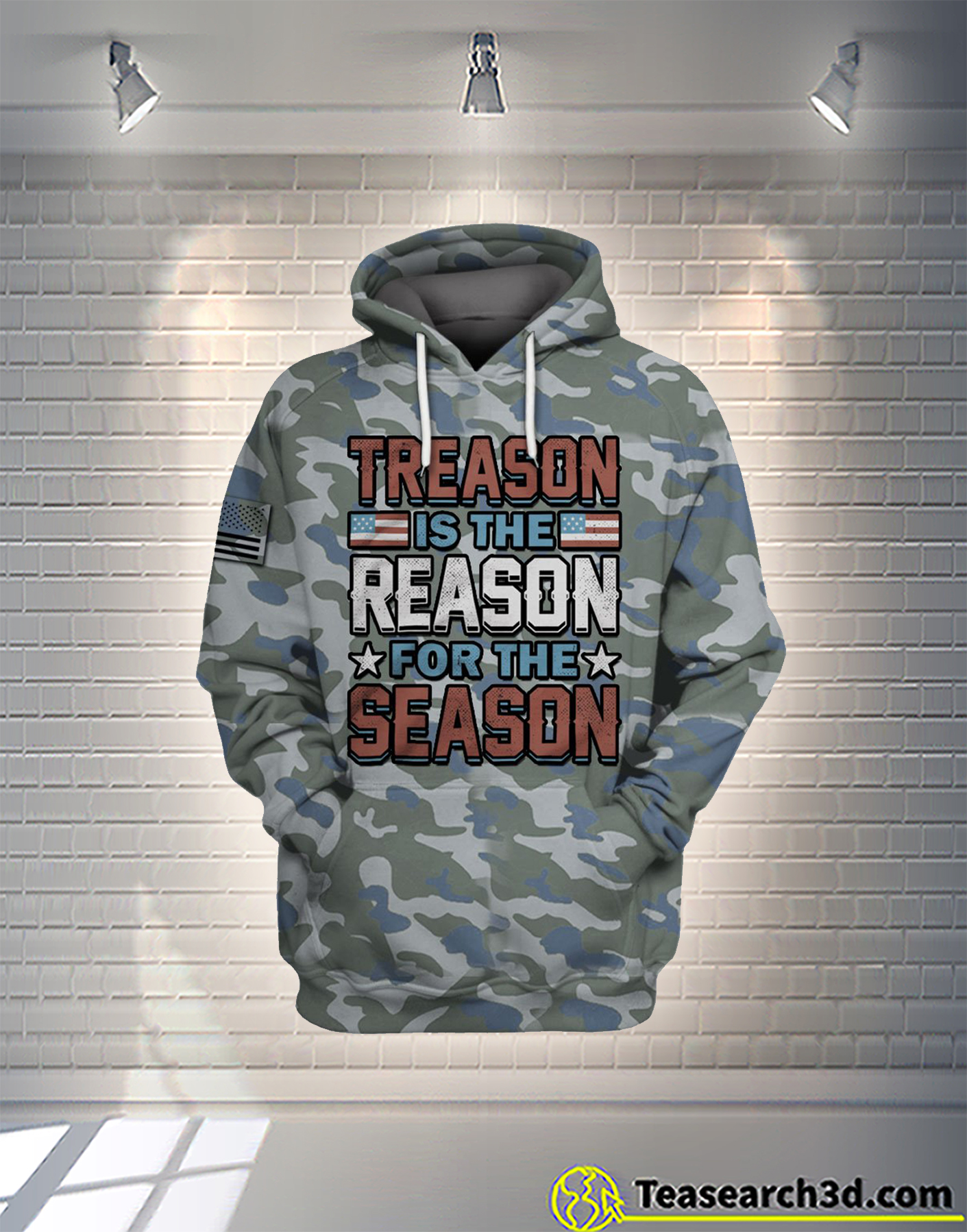 Treason is the reason for the season camo all over printed hoodie
