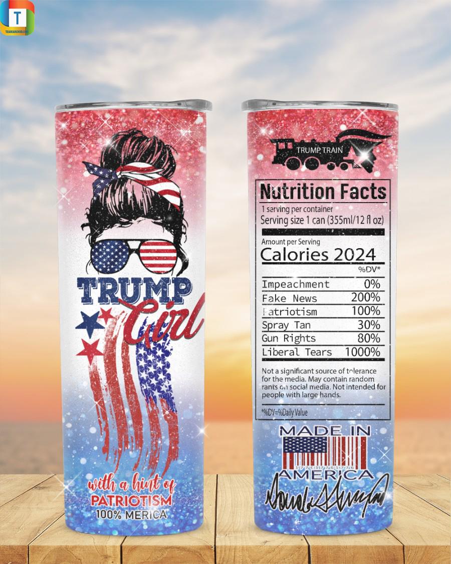 Trump girl with a hint of patriotism 100% merica tumbler 1